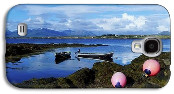 Alga Galaxy S4 Cases - Connemara From Roundstone, Twelve Bens Galaxy S4 Case by The Irish Image Collection