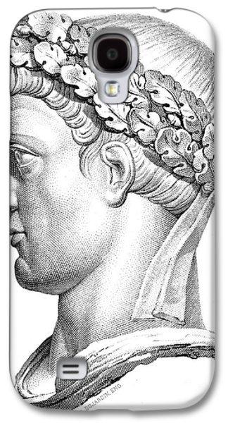 Statue Portrait Galaxy S4 Cases - CONSTANTINE I (d. 337) Galaxy S4 Case by Granger