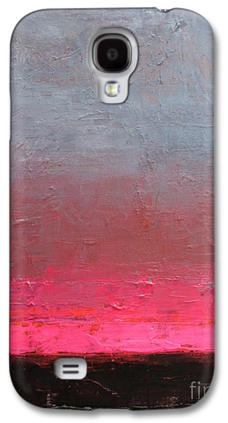 Contemporary Abstract Drawings Galaxy S4 Cases - Contemporary abstract painting Galaxy S4 Case by Svetlana Novikova