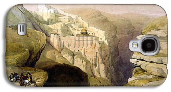 Religious Drawings Galaxy S4 Cases - Convent of St Saba Galaxy S4 Case by Munir Alawi