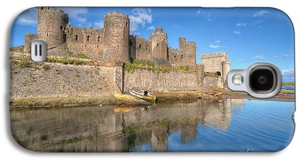 North Wales Digital Art Galaxy S4 Cases - Conwy Castle Galaxy S4 Case by Adrian Evans