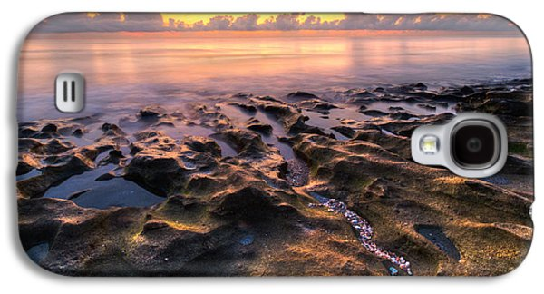 Tidal Photographs Galaxy S4 Cases - Coral Beach Galaxy S4 Case by Debra and Dave Vanderlaan