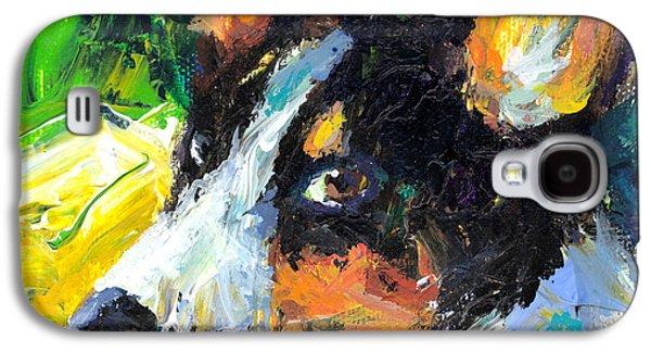 Wild Life Drawings Galaxy S4 Cases - Corgi Dog portrait Galaxy S4 Case by Svetlana Novikova