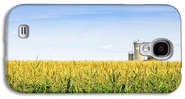 Corn Field With Silos Galaxy S4 Case by Elena Elisseeva