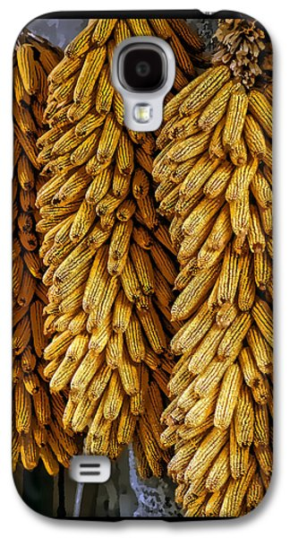Abstract Digital Pyrography Galaxy S4 Cases - Corn  Galaxy S4 Case by Mauro Celotti