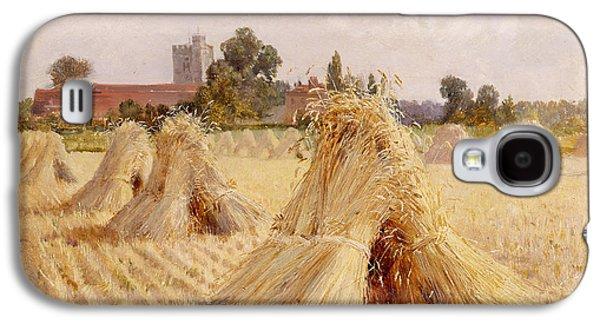 Corn Stooks By Bray Church Galaxy S4 Case by Heywood Hardy