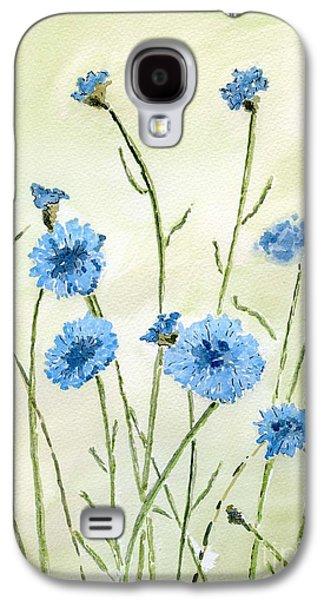 Wild Life Drawings Galaxy S4 Cases - Cornflowers Galaxy S4 Case by Eva Ason