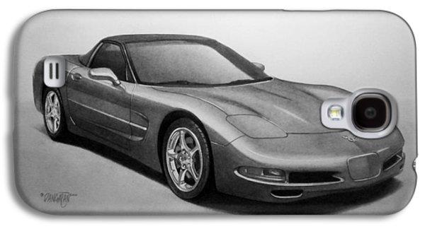 Drawing Galaxy S4 Cases - Corvette Galaxy S4 Case by Tim Dangaran