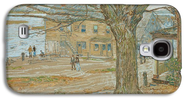 Autumn Landscape Pastels Galaxy S4 Cases - Cos Cob in November Galaxy S4 Case by Childe Hassam