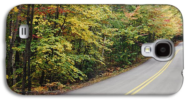 Rural Maine Roads Galaxy S4 Cases - Country Road Through Maine Forest Galaxy S4 Case by Jeremy Woodhouse