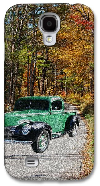 Old Country Roads Photographs Galaxy S4 Cases - Country Roads Galaxy S4 Case by Cheryl Young