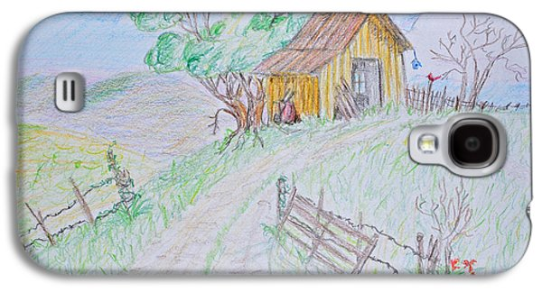 Shed Drawings Galaxy S4 Cases - Country Woodshed Galaxy S4 Case by Debbie Portwood
