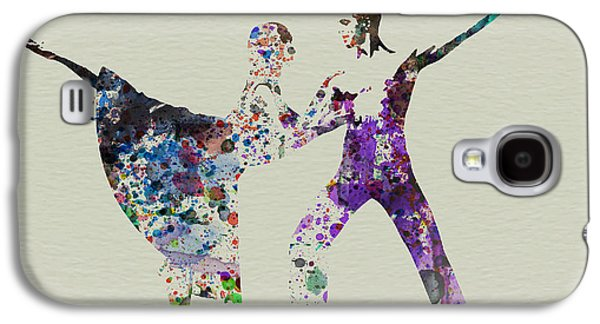 Ballerinas Galaxy S4 Cases - Couple Dancing Ballet Galaxy S4 Case by Naxart Studio