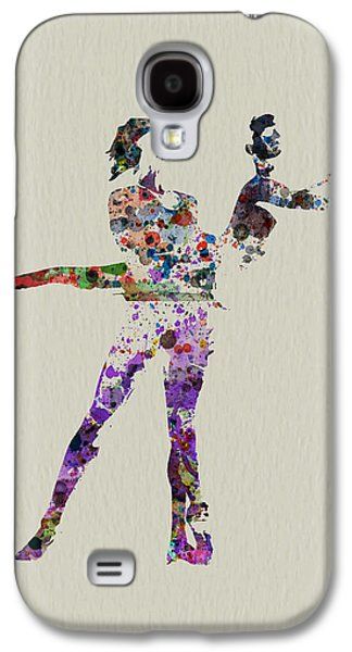 Ballerinas Galaxy S4 Cases - Couple dancing Galaxy S4 Case by Naxart Studio