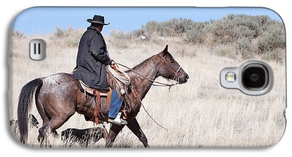 Cowboy On Horseback Galaxy S4 Case by Cindy Singleton