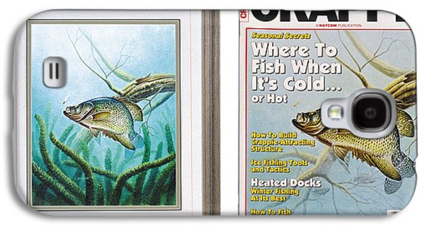Tackle Galaxy S4 Cases - Crappie and Coon Tail Cover Galaxy S4 Case by JQ Licensing