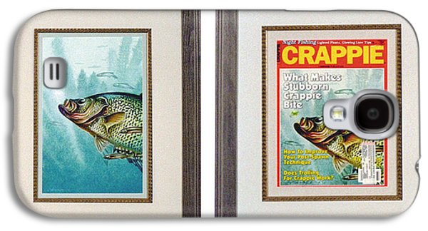 Tackle Galaxy S4 Cases - Crappie and Minnows Galaxy S4 Case by JQ Licensing