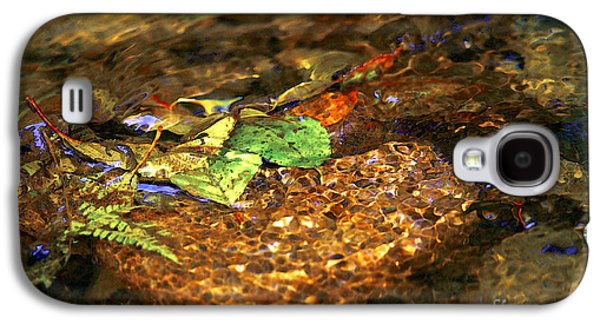 Autumn Leaf On Water Galaxy S4 Cases - Creekside Galaxy S4 Case by Sharon  Talson