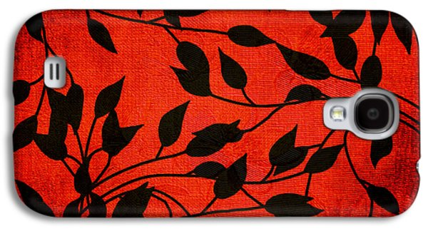 Vine Leaves Galaxy S4 Cases - Creeping Vines Galaxy S4 Case by Bonnie Bruno