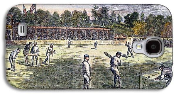 Philadelphia Cricket Galaxy S4 Cases - Cricket Match, 1879 Galaxy S4 Case by Granger