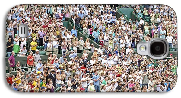 Wimbledon Galaxy S4 Cases - Crowd Of People Galaxy S4 Case by Carlos Dominguez