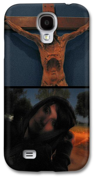 Religious Digital Art Galaxy S4 Cases - Crucifixion Galaxy S4 Case by James W Johnson