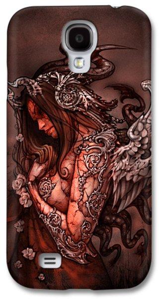 Fantasy Digital Art Galaxy S4 Cases - Cthluhu Princess Galaxy S4 Case by David Bollt