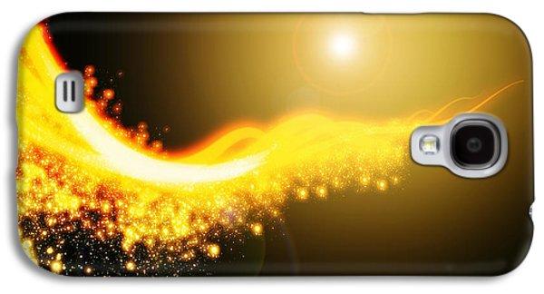 Yellow Line Galaxy S4 Cases - Curved  Lighting  Galaxy S4 Case by Setsiri Silapasuwanchai