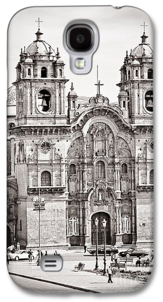 35mm Galaxy S4 Cases - Cusco Cathedral Galaxy S4 Case by Darcy Michaelchuk