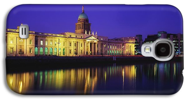 Reflections Of Sky In Water Galaxy S4 Cases - Custom House, Dublin, Co Dublin Galaxy S4 Case by The Irish Image Collection