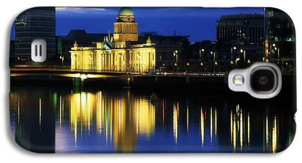 Reflections Of Sun In Water Galaxy S4 Cases - Customs House And Liberty Hall, River Galaxy S4 Case by The Irish Image Collection