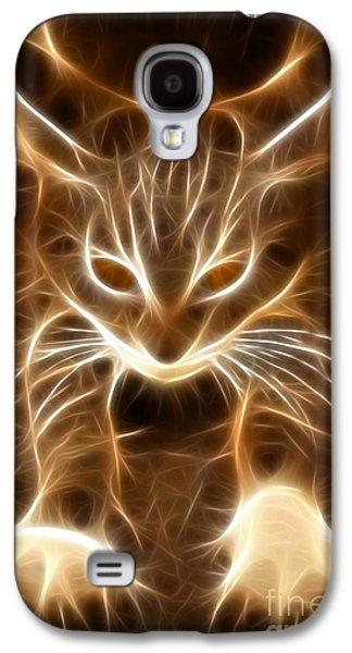 Owner Mixed Media Galaxy S4 Cases - Cute Little Kitten Galaxy S4 Case by Pamela Johnson