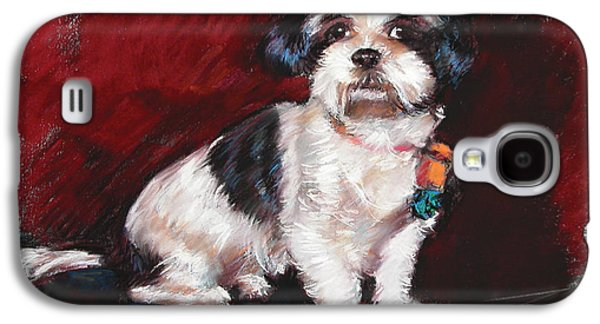 Dogs Pastels Galaxy S4 Cases - Cutie Galaxy S4 Case by Ylli Haruni