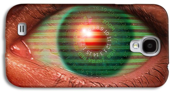 Technological Photographs Galaxy S4 Cases - Cybernetic Eye Galaxy S4 Case by Victor Habbick Visions