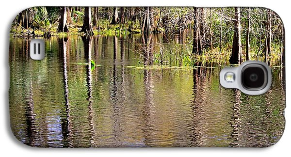 Reflections Of Sky In Water Galaxy S4 Cases - Cypress Trees along the Hillsborough River Galaxy S4 Case by Carol Groenen