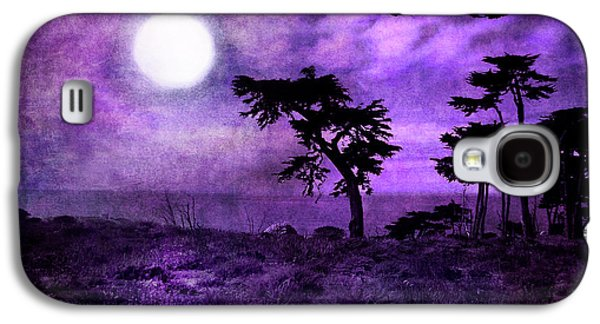 Monochromatic Digital Galaxy S4 Cases - Cypress Trees at Sutro Heights Galaxy S4 Case by Laura Iverson