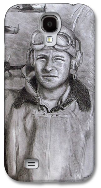 Aviator Drawings Galaxy S4 Cases - Dad WW2 Galaxy S4 Case by Jack Skinner