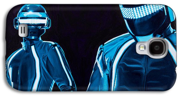 Daft Punk Paintings Galaxy S4 Cases - Daft Punk Galaxy S4 Case by Ellen Patton