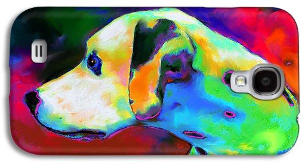 Breed Digital Art Galaxy S4 Cases - Dalmatian Dog Portrait Galaxy S4 Case by Svetlana Novikova