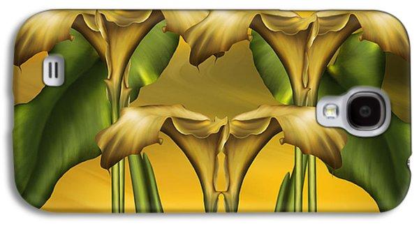 Calla Lilly Galaxy S4 Cases - Dance Of The Yellow Calla Lilies Galaxy S4 Case by Georgiana Romanovna