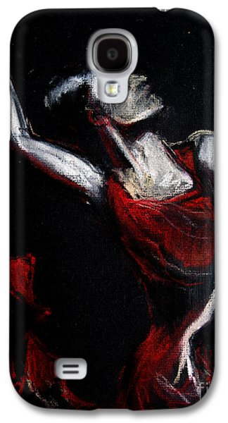 White Pastels Galaxy S4 Cases - Dancer Galaxy S4 Case by Mona Edulesco