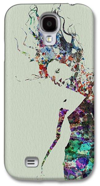 Ballet Dancers Paintings Galaxy S4 Cases - Dancer watercolor splash Galaxy S4 Case by Naxart Studio
