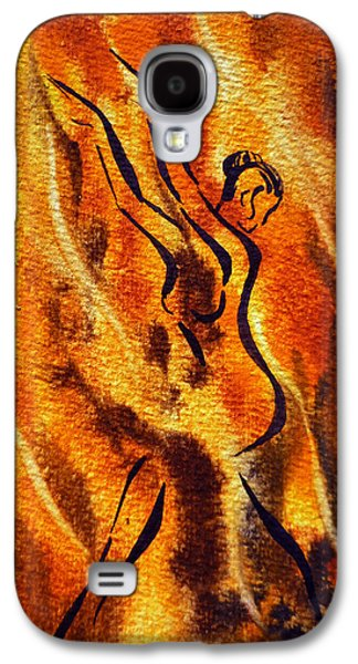 Abstract Movement Galaxy S4 Cases - Dancing Fire VIII Galaxy S4 Case by Irina Sztukowski