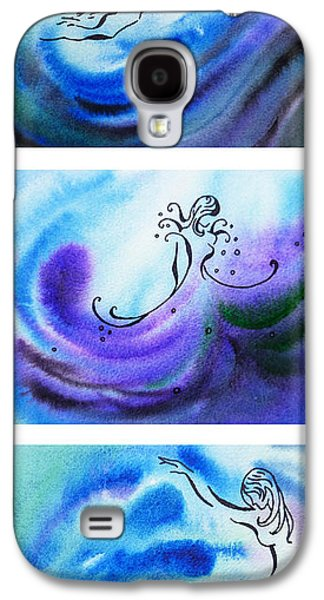 Abstract Movement Galaxy S4 Cases - Dancing Water V Galaxy S4 Case by Irina Sztukowski