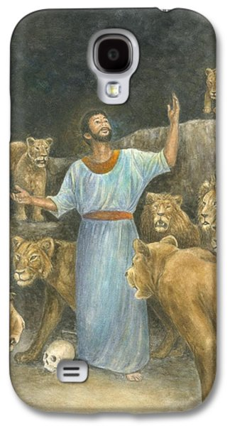 Religious Pastels Galaxy S4 Cases - Daniel Praying in Lions Den Galaxy S4 Case by Robert Casilla