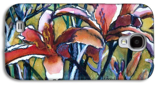 Abstract Nature Galaxy S4 Cases - Daylily Stix Galaxy S4 Case by Kathy Braud