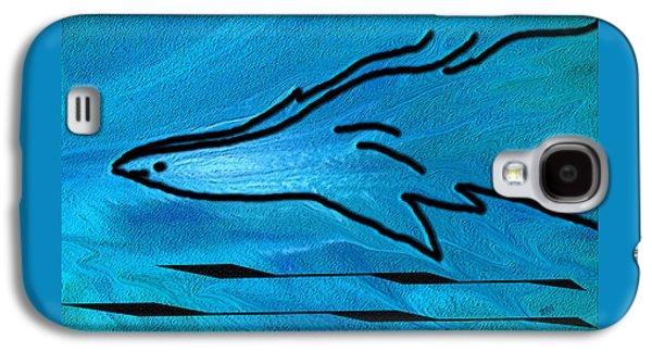 Ben Gertsberg Digital Art Galaxy S4 Cases - Deep Blue Galaxy S4 Case by Ben and Raisa Gertsberg