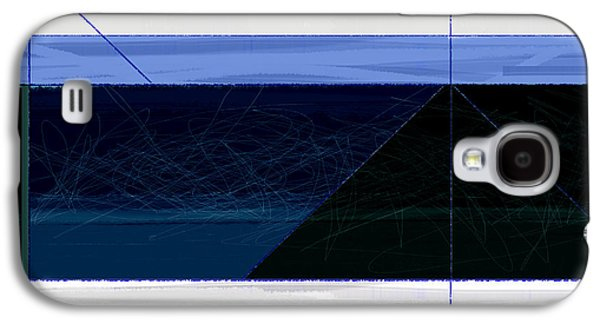 Modern Abstract Galaxy S4 Cases - Deep Blue Galaxy S4 Case by Naxart Studio