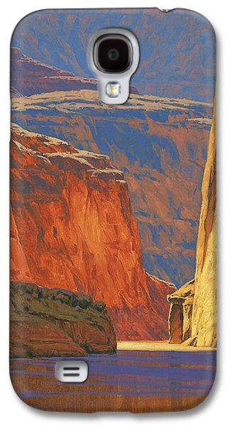 Usa Paintings Galaxy S4 Cases - Deep in the Canyon Galaxy S4 Case by Cody DeLong
