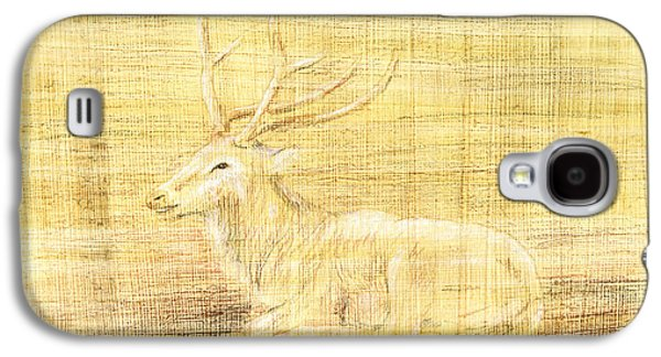 Papyrus Galaxy S4 Cases - Deer Galaxy S4 Case by Hakon Soreide